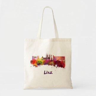 Linz skyline in watercolor