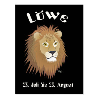 _lion 23. July to 22. August postcard