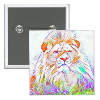 Lion 2 2 inch square button