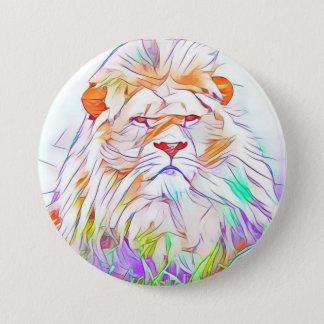 Lion 2 3 inch round button