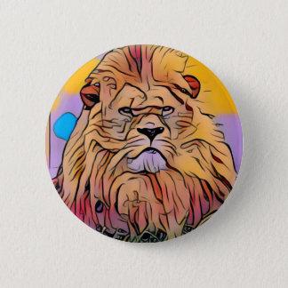 Lion 2 Inch Round Button