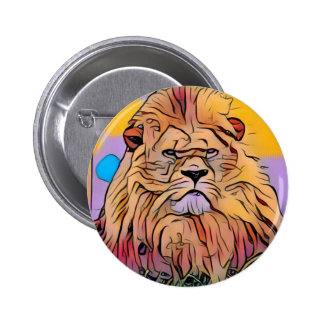 Lion 2 Inch Round Button