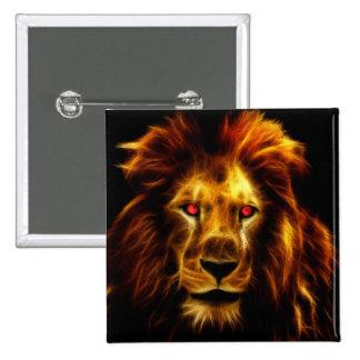 Lion 2 Inch Square Button