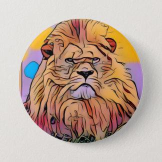 Lion 3 Inch Round Button