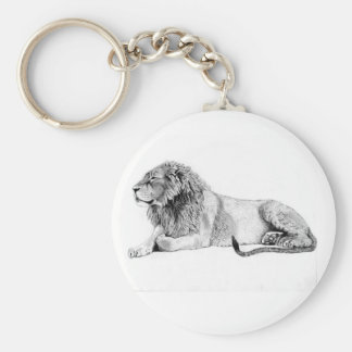 Lion 5.7 cm Basic Button Key Ring