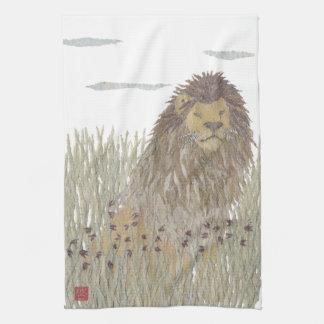 Lion, Africa, Animal, Wildlife Kitchen Towel