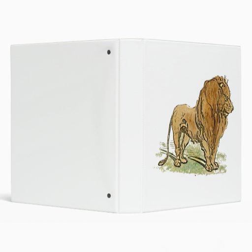 Lion African Cat Golden Mane Cartoon 3 Ring Binders