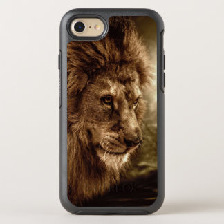 Lion against stormy sky OtterBox symmetry iPhone 7 case