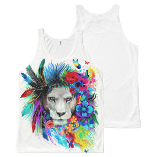 LION. All-Over-Print TANK TOP
