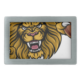 Lion American Football Ball Sports Mascot Belt Buckles