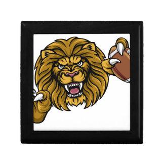Lion American Football Ball Sports Mascot Gift Box