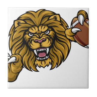 Lion American Football Ball Sports Mascot Tile
