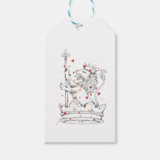 lion and gift tags