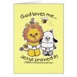 Lion and Lamb Babies Greeting Card