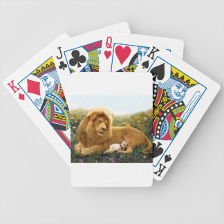 Lion and Lamb Bicycle Playing Cards