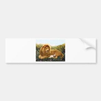 Lion and Lamb Bumper Sticker