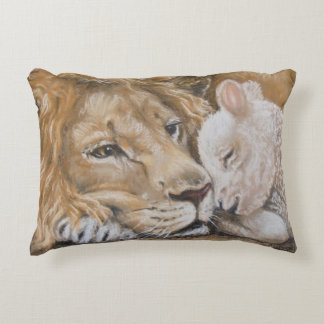 Lion and Lamb by TACS throw pillow