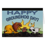 Lion and Lamb-Groundhog Day Surprise Card