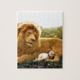 Lion and Lamb Jigsaw Puzzle