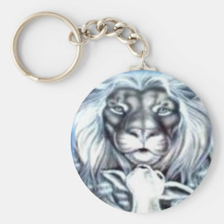 Lion and Lamb Keychain