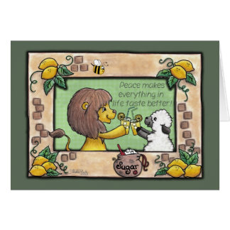 Lion and Lamb Make Lemonade- Peace Card
