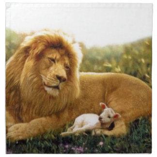 Lion and Lamb Napkin