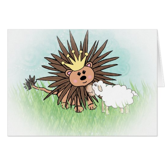 """Lion and Lamb"" Note Card"