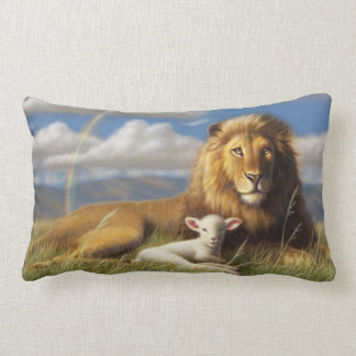 Lion and Lamb pillow