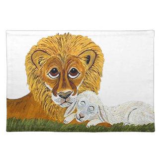 Lion And Lamb Place Mats