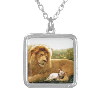 Lion and Lamb Silver Plated Necklace