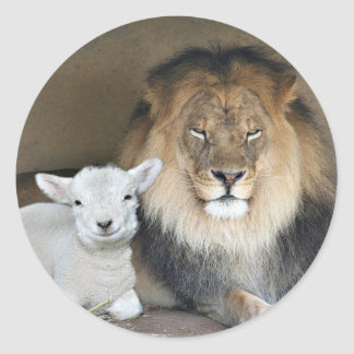 lion and lamb sticker