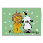 Lion and Lamb True Friends Greeting Card
