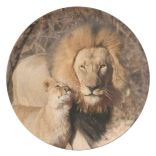 Lion and Lion Cub Plate
