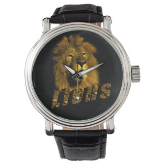 Lion And Lion Logo, Mens Leather Watch. Watch
