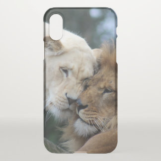 Lion and Lioness Nuzzling iPhone X Case