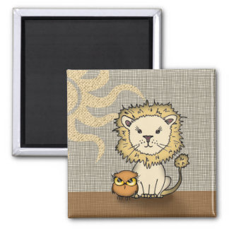 Lion and Owl Magnet for Kids