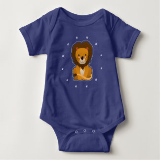 Lion and Paw Prints Baby Bodysuit