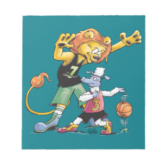 Lion and Sheep Basketball Notepad