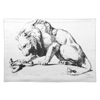 Lion And The Serpent Placemat