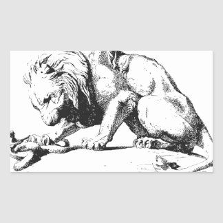 Lion And The Serpent Sticker