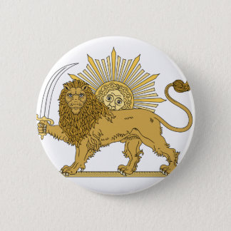 Lion and the sun 2 inch round button