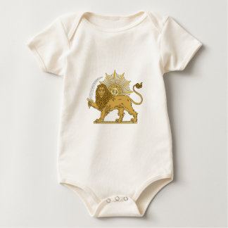 Lion and the sun baby bodysuit