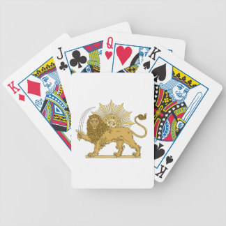 Lion and the sun bicycle playing cards
