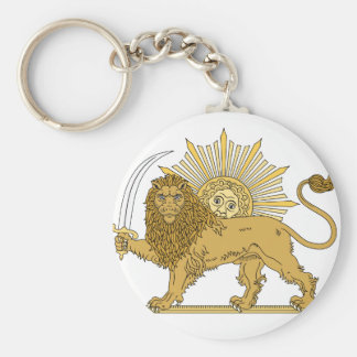 Lion and the sun keychain