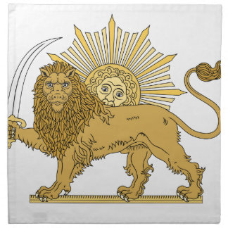 Lion and the sun napkin
