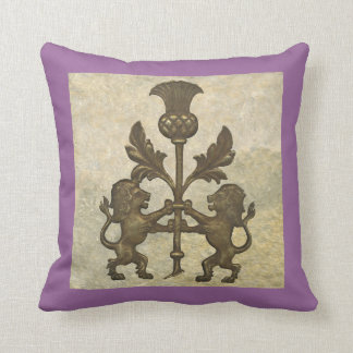 Lion and Thistle Throw Pillow