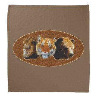 Lion And Tiger And Bear Bandana