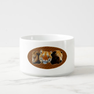 Lion And Tiger And Bear Bowl