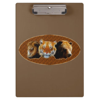 Lion And Tiger And Bear Clipboard