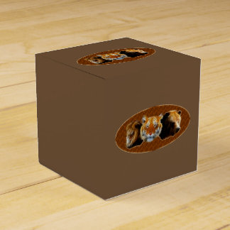 Lion And Tiger And Bear Favor Box